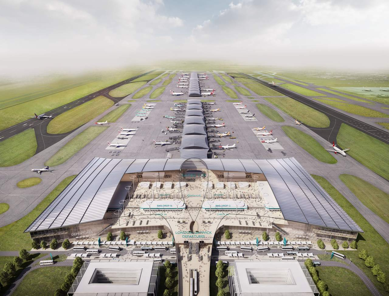 Gatwick Airport plans make its second standby runway take off
