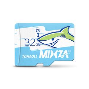MIXZA Shark Edition Memory Card 32GB TF Card Class10 For Smartphone Camera MP3