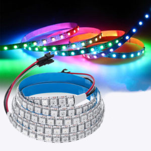DC5V 1M 144LED WS2812B 5050SMD Built-In IC IP20 RGB LED Strip Light for Indoor KTV Hotel Bar Home