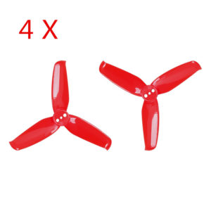 4 Pairs Gemfan Flash 2540 2.5×4 2.5 Inch 3-Blade Propeller with 1.5mm Mounting Hole