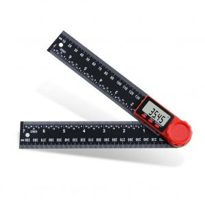 0-200mm 0-300mm 360 ° LCD Display Carbon Fiber Digital Angle Ruler Inclinometer Electron Goniometer Protractor Angle Finder Meter Measuring Tool