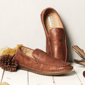 Casual Hand Stitching Leather Soft Sole Walking Oxfords