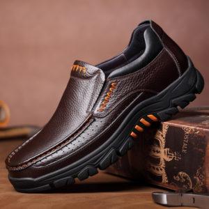 Men Waterproof Genuine Cow Leather Shoes