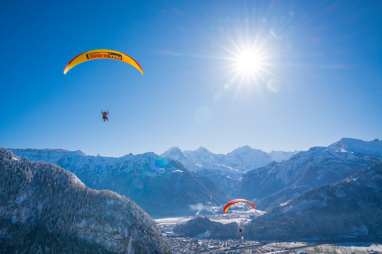 Paragliding over Interlaken, Switzerland