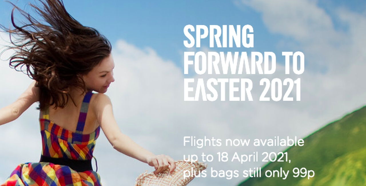 Easter 2021 flights now available – bags only 99p