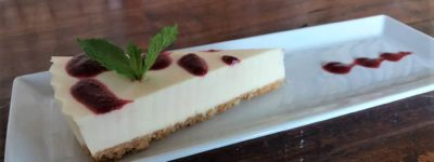 Chef Maggie's almond and lime cheesecake