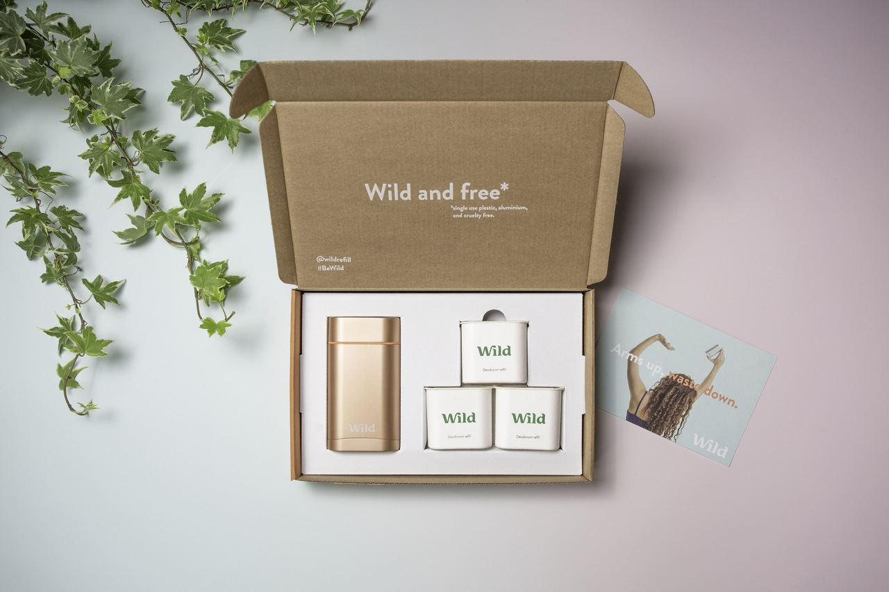 Go vegan with refillable natural deodorants from Wild