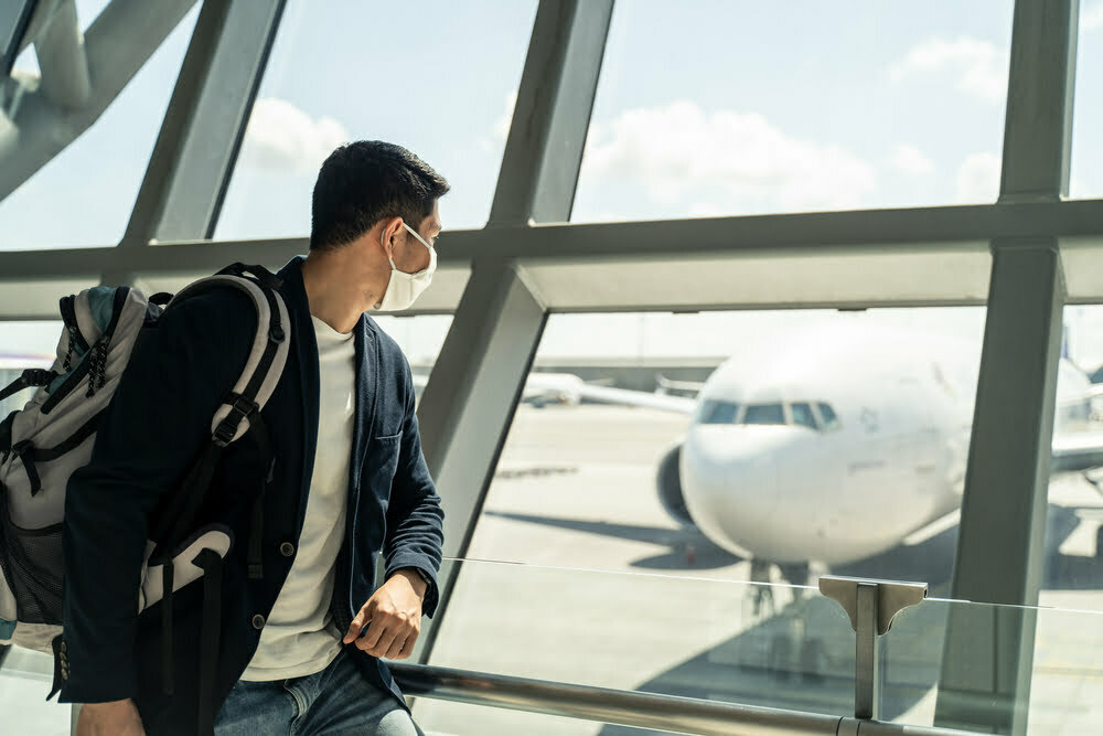 Airlines are banning fabric and vented masks